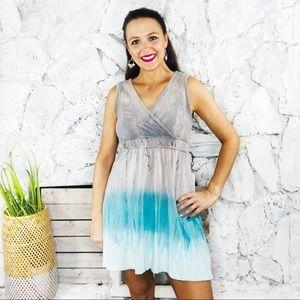 Prana Ombré Keyhole Back Jersey Knit Dress Small